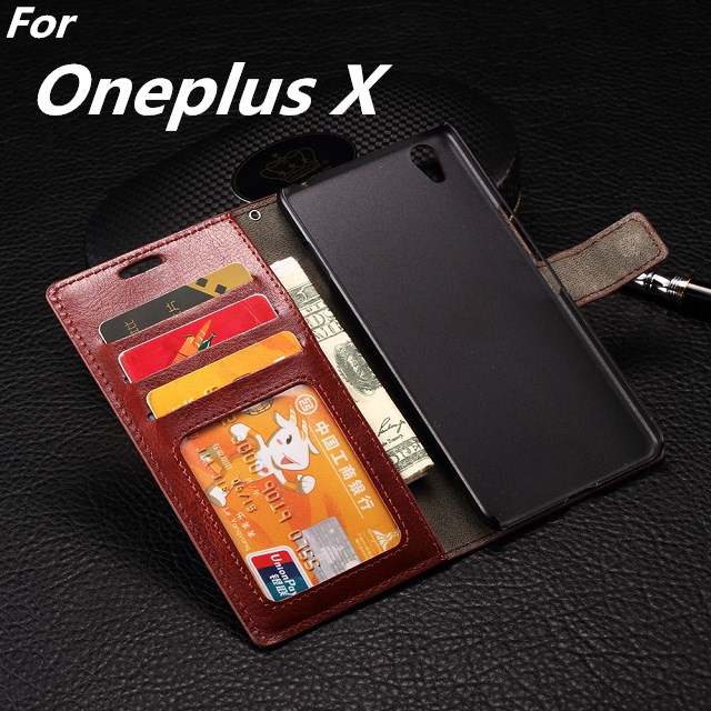 Album Card Holder Wallet Holster Protect <font><b>Case</b></font> For <font><b>Oneplus</b></font> X 1+X <font><b>E1001</b></font> leather Cover <font><b>Case</b></font> Pu Fundas Free one Film image