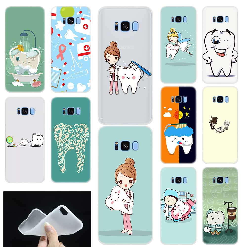 Dental Implant Dentist Dental Teeth Pattern Phone Case Cover For Samsung Galaxy S6 S7 Edge S8 S9 Plus S10 E Note 8 9