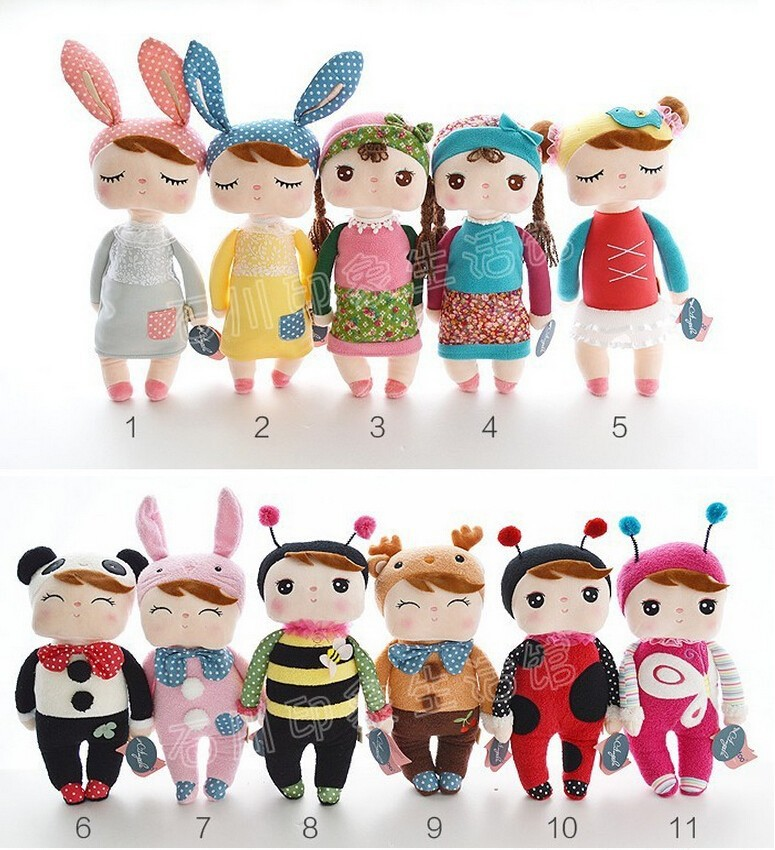 100pcs/lot Angela Plush Kids Toys 30cm Lovely Stuffed Cloth Doll Metoo Rabbit Doll Girl Christmas Girl Children Gift S15 stuffed animal 120 cm cute love rabbit plush toy pink or purple floral love rabbit soft doll gift w2226