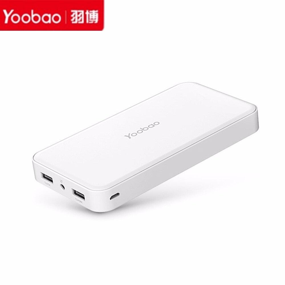 Цена за Горячая Yoobao 20000mAh-YB-S8 плюс универсальный Портативный LED Dual USB Выход внешнего резервного Мощность банк Батарея для iPhone мобильного телефона
