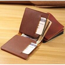 Daffdoil Handmade Genuine Leather Wallet Men Women Original Design Porte feuille Femme Ultrathin Cartera Hombre Billetera