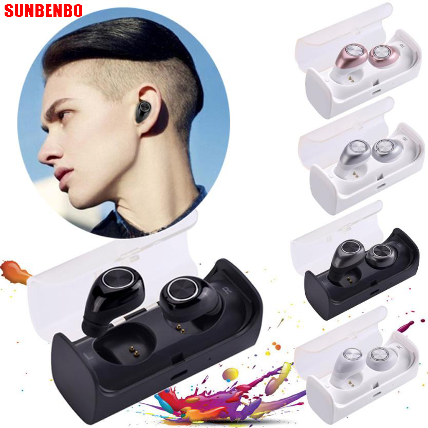 High Quality New Mini TWS Wireless Bluetooth Stereo Headset In-Ear Earphone Earbuds Wireless Bluetooth Headphone for Cell phone new portable wireless earbuds mini tws headphone bluetooth 4 2 stereo earphone in ear sport headset for phone7 with charger box