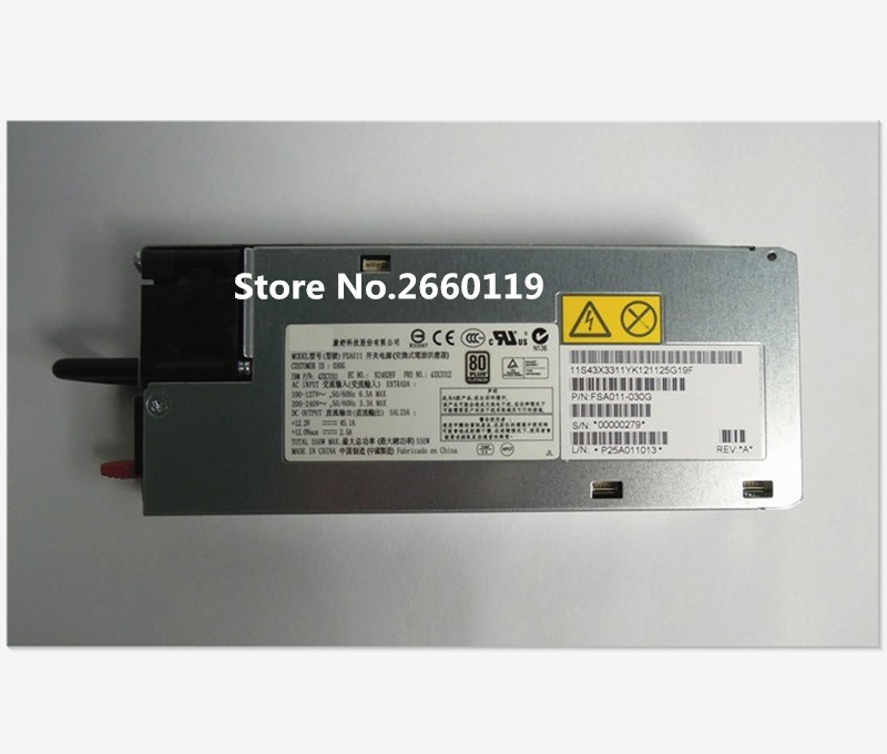 Server power supply for X3550M4 X3650M4 X3630M4 43X3311 43X3312 FSA011 550W fully tested цены