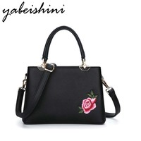 KMFFLY High Quality Brand Shell Women Messenger Bags Embroidered Flowers Shoulder Bags Totes Luxury Women Designer