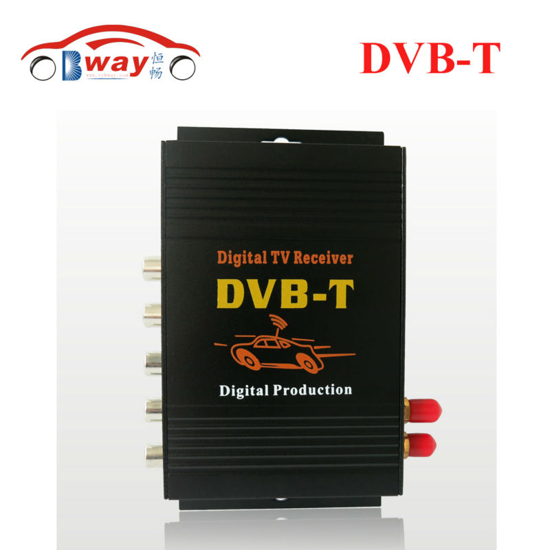 DVB-T MPEG-4 Car digital TV receiver box with 4 video output 2 antenna for Europe, France, German, Spain, Middle East, Australia