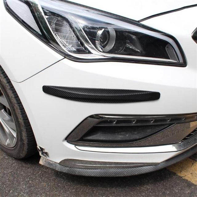 2pcs Car carbon fiber bumper crash bar For Renault Koleos Clio Scenic Megane Duster Sandero Captur Twingo,Car Styling