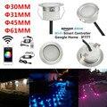 20 штук 31/45/61 мм RGBWW Сменные Смарт WI-FI приложение музыкальный контроллер терраса Кухня лесенка светодиодный палуба  тетива софит светильники ...