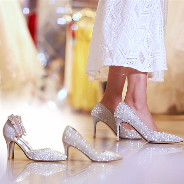 fb40c953728 Detail Feedback Questions about Luxury Women Shoes Celebrities Silver  Rhinestone Party Heels 7cm 9cm Wedding Pumps For Bride Whole Sale Princess  Queen Shoes ...