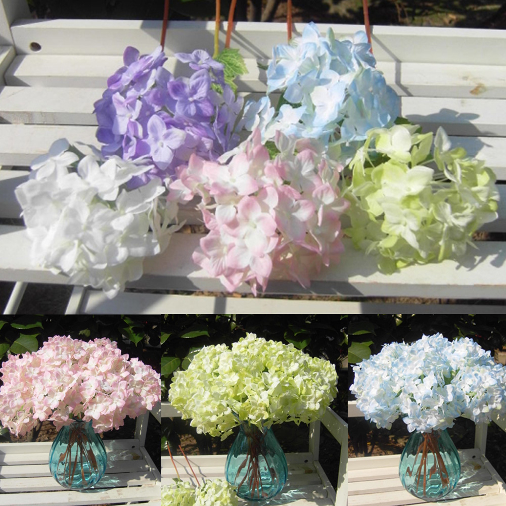 Hot lovely realistic light purple mini hydrangea for Artificial flower for wedding decoration