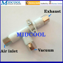 185L/мин пневматический клапан Женский вакуумный генератор ZH20DL-03-04-04 диаметр Сопла 2 мм основные-48kPa трубчатые связаться трубы