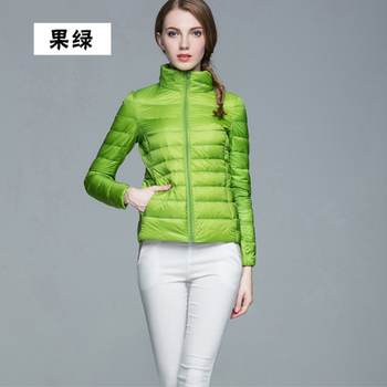 Autumn Winter Women green Lightweight Down Jacket Warm Ultra Light White Duck Down Parkas Outwear Plus Size Slim Thin Short Coat 90% ultra light plus size thin down jacket women 2019 autumn winter slim short hooded warm white duck down coat women outerwear