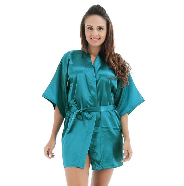 New Short Sexy Ladies  Rayon Robe Gown Hot Sale Women s Summer Mini  Nightgown Solid Color Kimono Sleepwear S M L XL XXL SG036 4bfb3fb7f