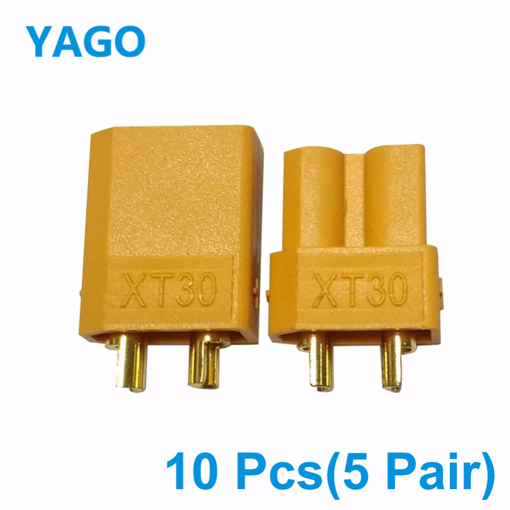 10 Pcs Above XT30 XT60 XT90 Male Female Bullet Connector Update Plug For Battery Connector RC Gold Plated Banana (5 Pair)