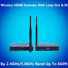 2.4GHz/5.8GHZ 660ft ProAV Wi-fi WIFI+Loop Out+IR+HDMI Extender Package 200m 1080P Wi-fi HDMI Video Audio Transmitter Receiver