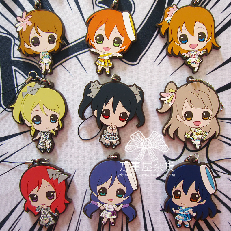 Kotori Nico Eli Rin Umi Maki Anime Love Live! Lovelive! Cute Version Japanese Rubber Keychain шорты мужские lasting 6262 nico