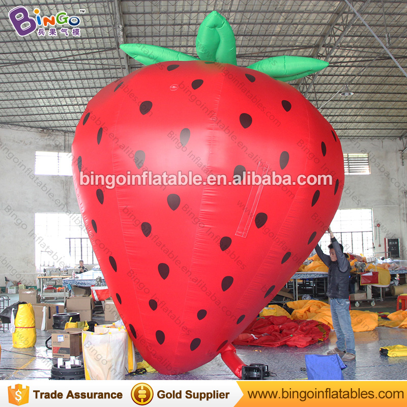 Giant Inflatable Strawberry Balloon Model 3M High Inflatable Fruit Replica Inflatables Advertising Berry with Free Fan inflatable cartoon customized advertising giant christmas inflatable santa claus for christmas outdoor decoration
