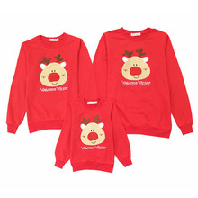 Family Matching Outfits 2020 Christmas Deer Cotton Father Kid Shirt Mother Daughter Clothes Family Clothing Mommy And Me Clothes family christmas clothes mother daughter father son t shirt family matching clothes mommy and me clothes family look outfit