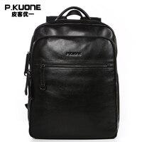 Luxury Brand Travel Backpacks Men Genuine Leather Messenger School Bag Fashion Men Bags Waterproof Laptop Cowhide Backpacks