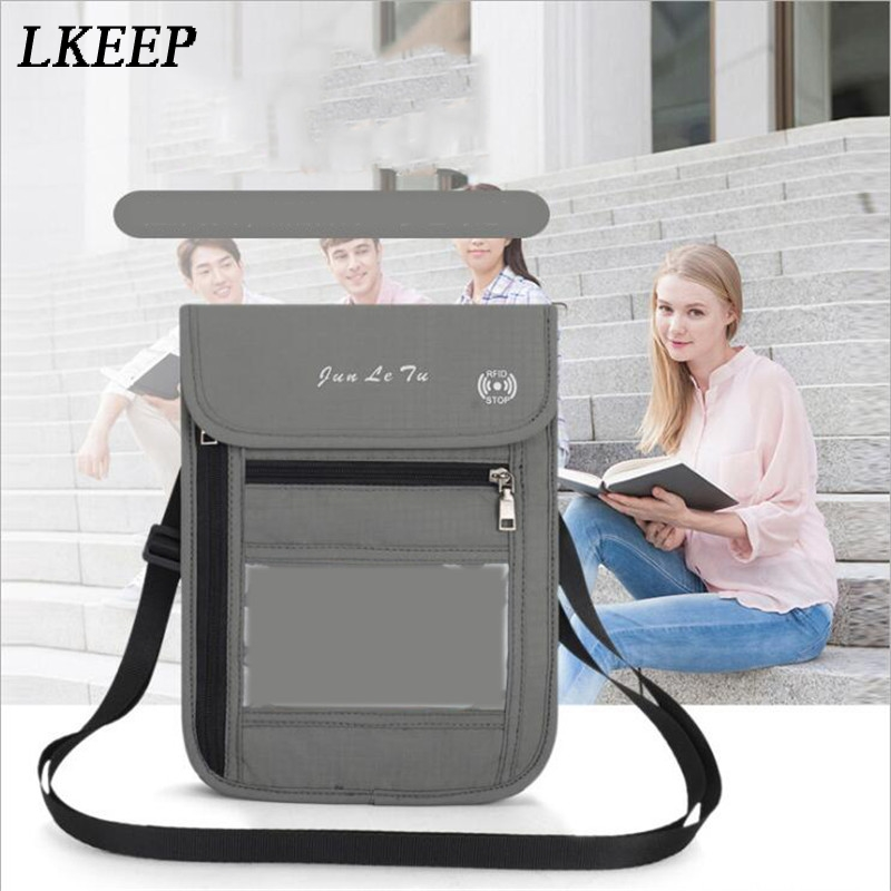 Travel Halter Passport Bag Multifunction Document Package Protective Case Wallet Pouch For Men And Women Mini Crossbody Bag
