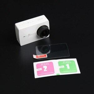 Image 3 - LCD מסך מגן סרט הגנת כיסוי עבור Xiaomi Xiaoyi 2 השני YI 4K בתוספת 4K + פעולה ספורט מצלמה מזג זכוכית מגן