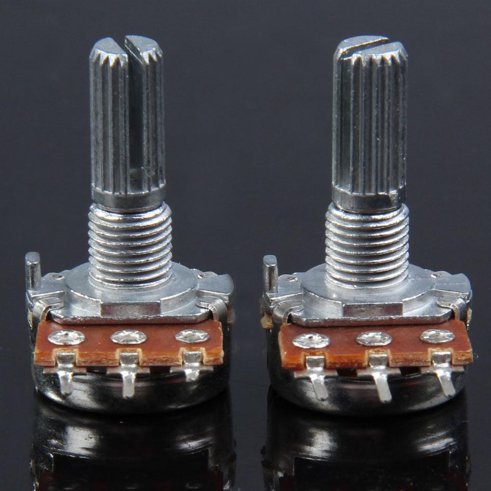 100% New 1 pair B500K Guitar Split Shaft Linear Taper Potentiometer Volume Tone Pot  FE5#