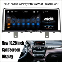 Yeni 10.25 inç Bölünmüş Ekran Android 4.4 Araç Player bmw X1 F48 2016-2017 GPS WiFi ile MP5 oyuncu (fit Orijinal Araba NBT)
