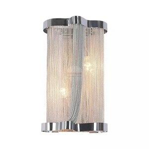 Image 2 - อิตาเลี่ยน Atlantis Luxury Chain Light โคมไฟกระจก Stream sconce ห้องน้ำโคมไฟห้องนอนสำหรับ LOFT decor