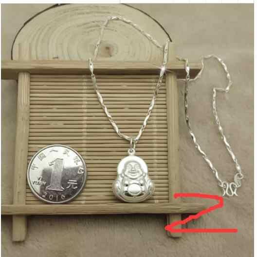 יאן תכשיטי יכול לבחור 999 כסף מאטרייה להבטיח פינג שרשרת תליון בודהה אמא חברה מתנת יום הולדת