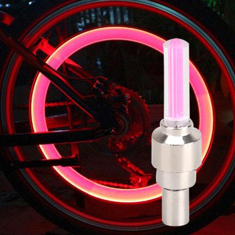 Bike Motorcycle Car LED Tyre Wheel Light Pink