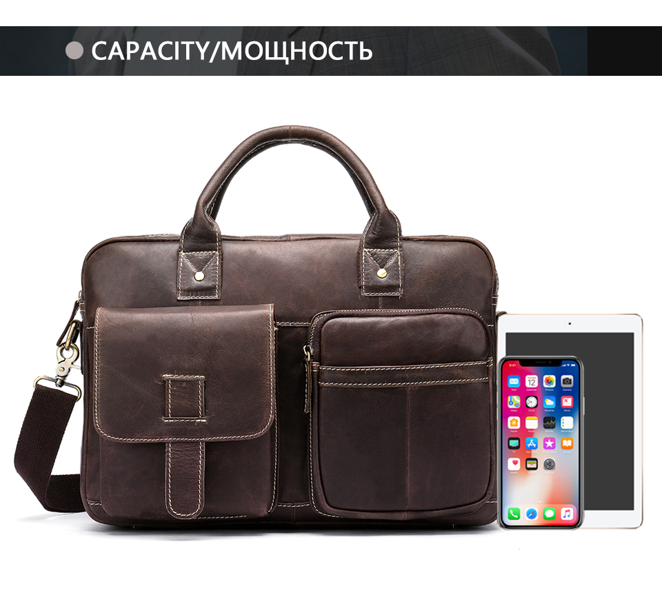 HTB1UYPyaErrK1RkSne1q6ArVVXan WESTAL men's briefcase bag men's genuine Leather laptop bag office bags for men business porte document briefcase handbag 8503
