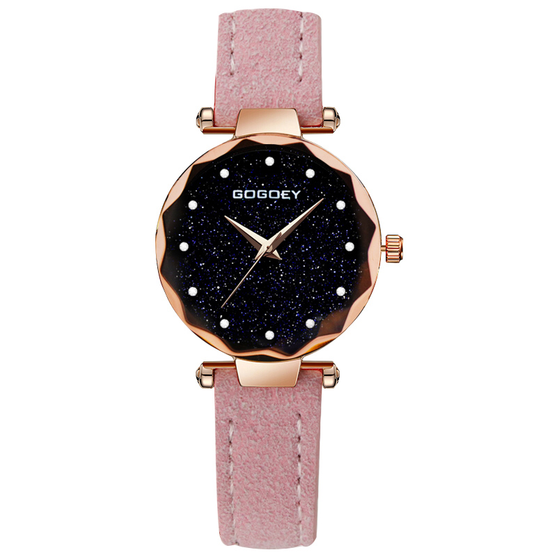 relojes mujer 18 Luxury Brand Gogoey Women Watches Personality romantic starry sky Wrist Watch Rhinestone Design Ladies Clock 19