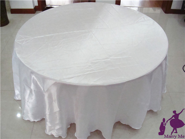 10pcs White Satin Tablecloth Cheap Table Cloth For Wedding Free Shipping