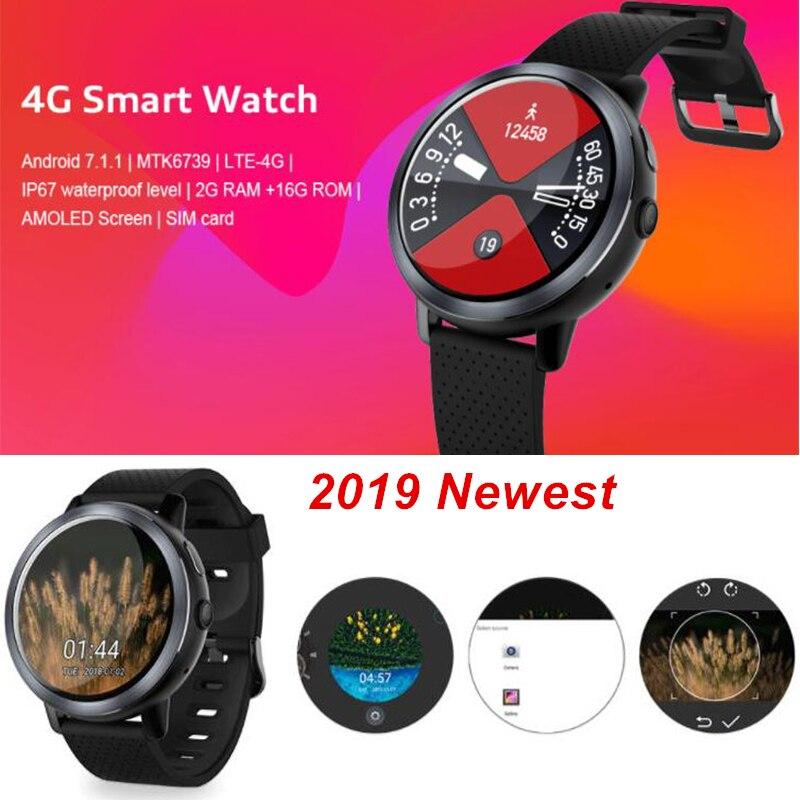 2019 Date 4G Smartwatch Android 7.1.1 2 GB 16 GB Étanche IP67 Coeur Taux Passometer Caméra SIM Temps Intelligent montre Saatler
