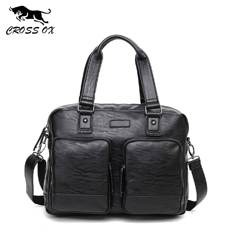Men's Briefcase Satchel-Bags Messenger-Bag Laptop-Shoulder-Bag Handbags-Design Business