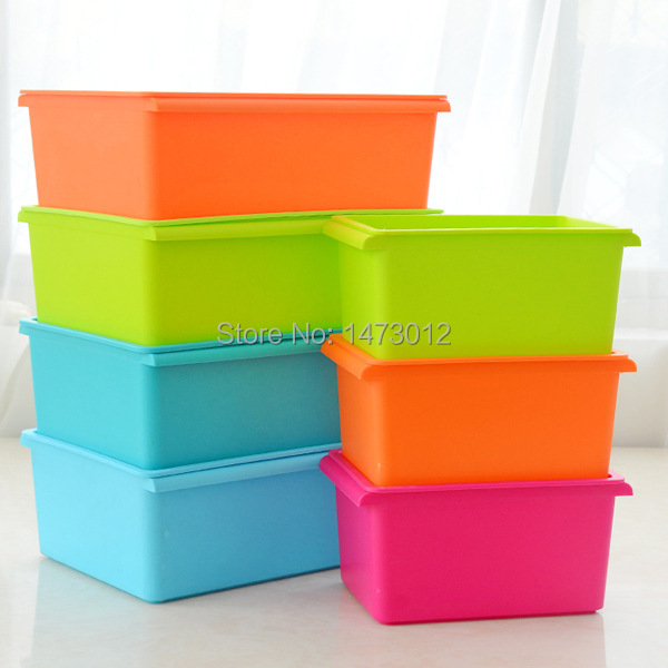 Wonderful Aliexpress.com : Buy 2015 New Candy Colored Stackable Plastic Rectangle  Storage Box Clothes Collecting Books Container With A Cover 1 Piece From  Reliable ...
