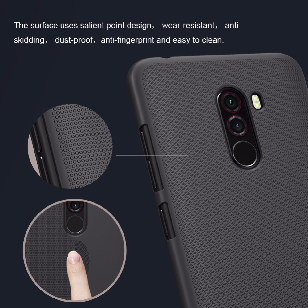 Pocophone F1 Case Nillkin Super Frosted Shield Back Cover Case For Poc Skv Cases And Covers