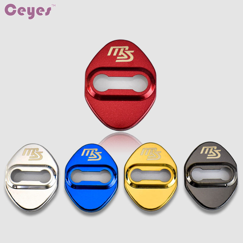 Ceyes Auto Door Lock Cover Car Styling Case For Mazda 2 6 CX-5 CX-9 3 For Mazda MS Car Emblems Accessories Car-Styling 4pcs/lot