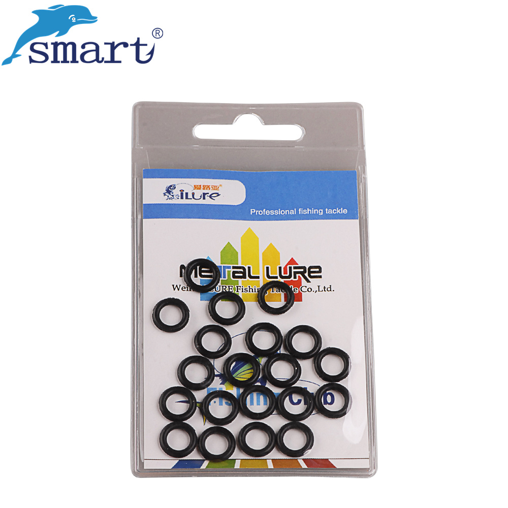 ilure 60pcs Rubber Ring For Soft Bait Black Hung Hook Artificial Worm Lures Leurre Soupl ...