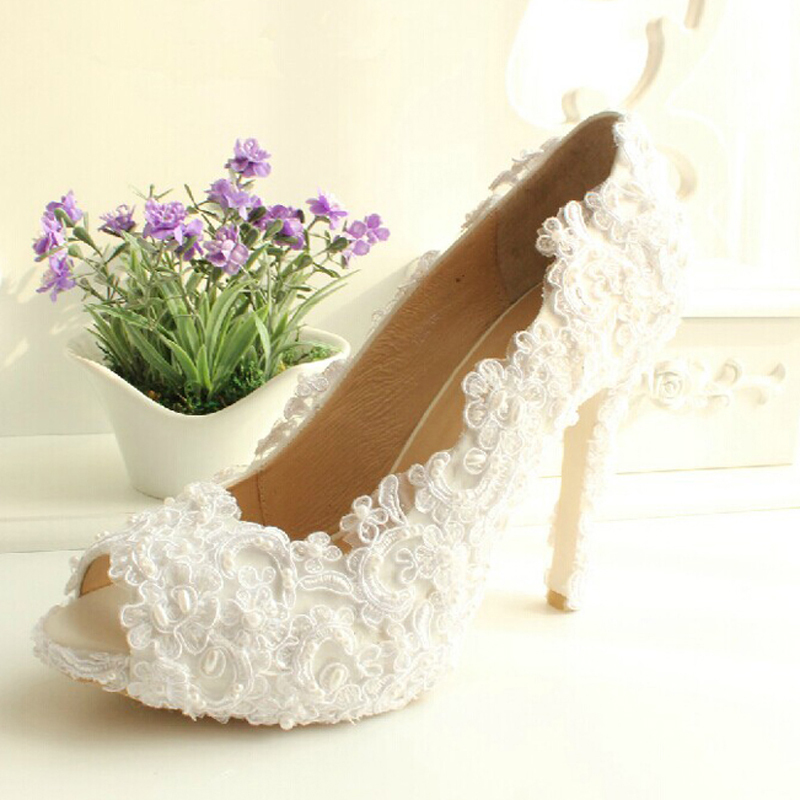 Luxury Formal Dress Shoes Elegant White high heel Imitation Pearl bridal wedding shoes Flower Lady Shoes for Wedding luxurious ecru white bridal shoes crystal diamond 5cm low heeled shoes elegant imitation pearl wedding dress shoes