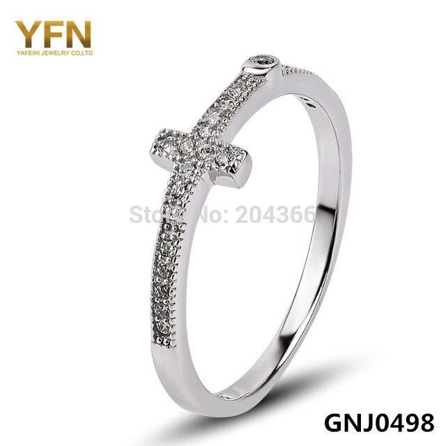 GNJ0498 Designer Jewelry Genuine 925 Sterling Silver Cross Ring
