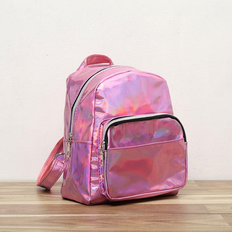 Female Backpack Women Laser PU Leather Bag Cute Casual School Bags For Teenage Girls Mini Bagpack Travel backpacks woman 2019Female Backpack Women Laser PU Leather Bag Cute Casual School Bags For Teenage Girls Mini Bagpack Travel backpacks woman 2019