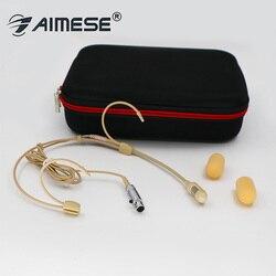 Classical Cardioid Headset Microphone for Shure SLX PGX ULX QLX etc Wireless Stage Performance Mics Beige Dual ear Mike TA4F