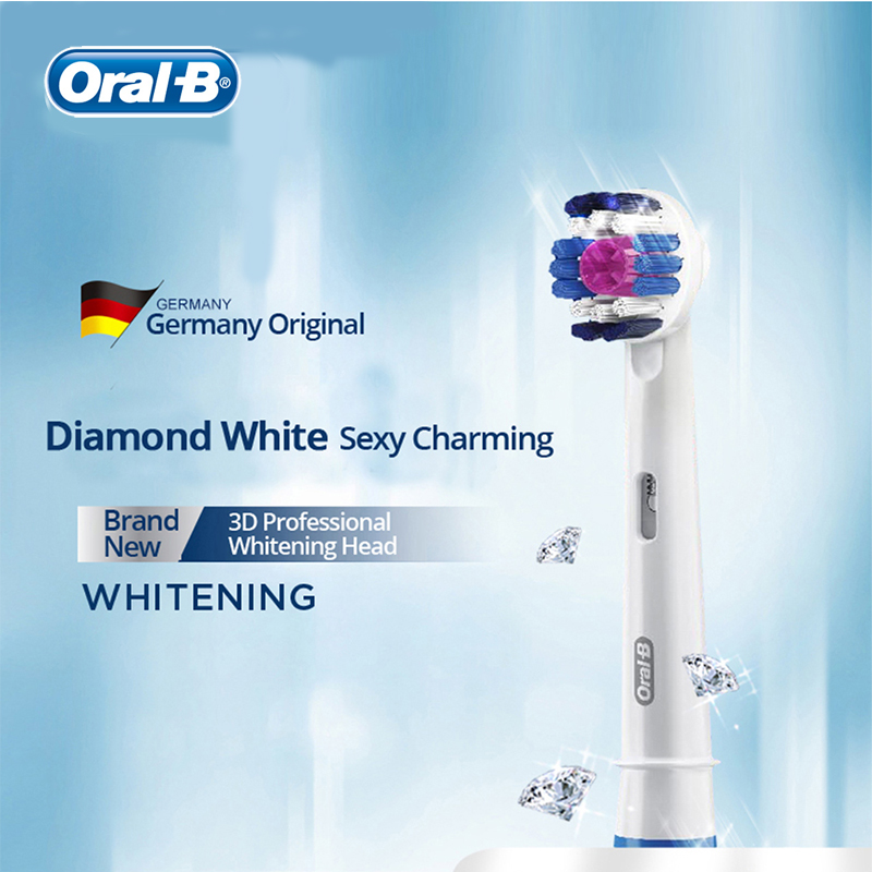 Authentic Oral B Vitality Electric Toothbrush 3D WhitenTeeth Inductive Rechargeable Tooth Brush Replaceable Brush Heads