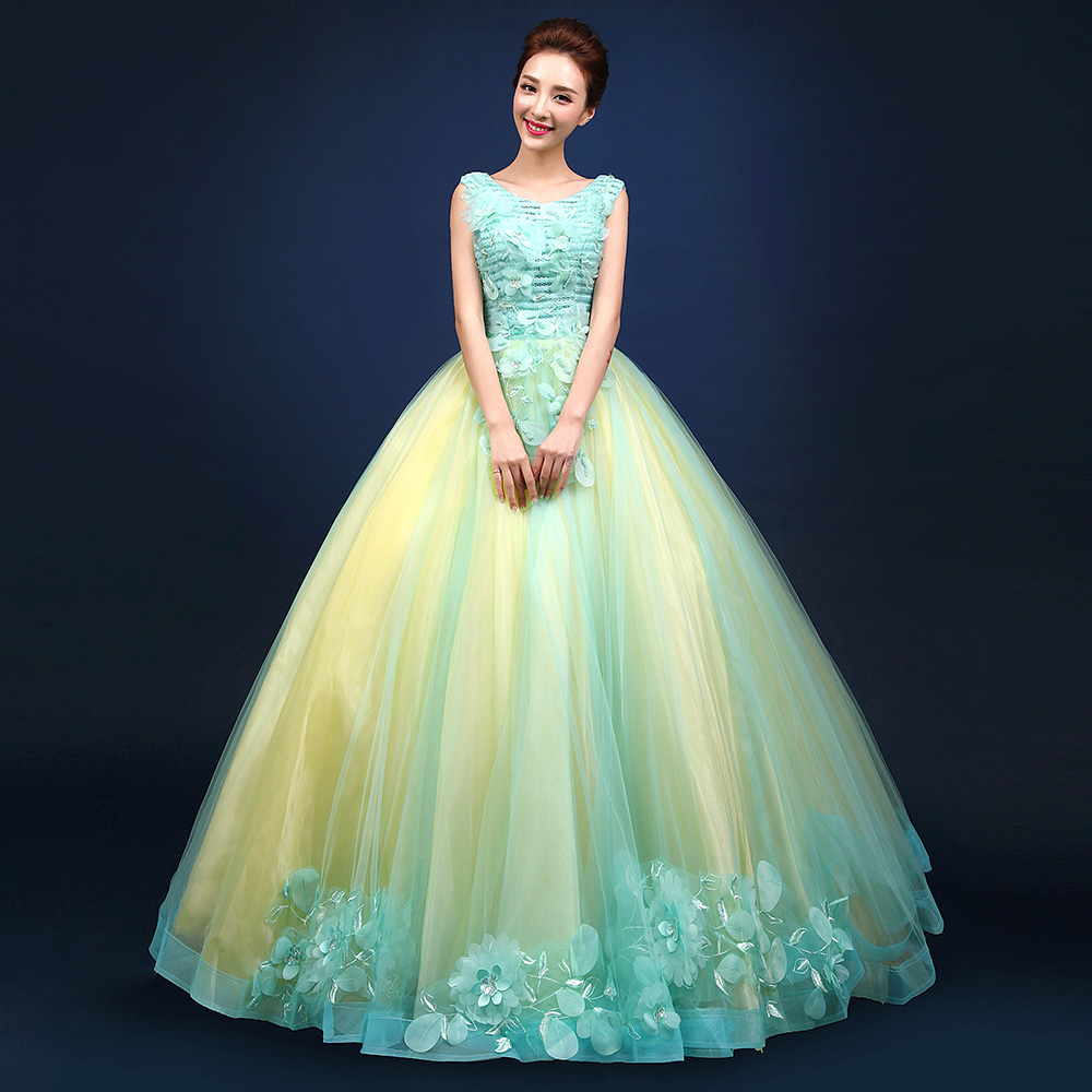 Blue and yellow quinceanera dresses fotos