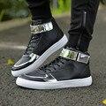 Высокое Качество Pu Кожа Мужчины Сапоги Мода Повседневная Обувь Мужчины Удобные Высокие Ботинки Botas Дешевые Оптовая