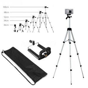 Image 2 - アルミプロフェッショナル伸縮カメラ三脚スタンドホルダーデジタルカメラビデオカメラiphone 4用三脚スマートフォン