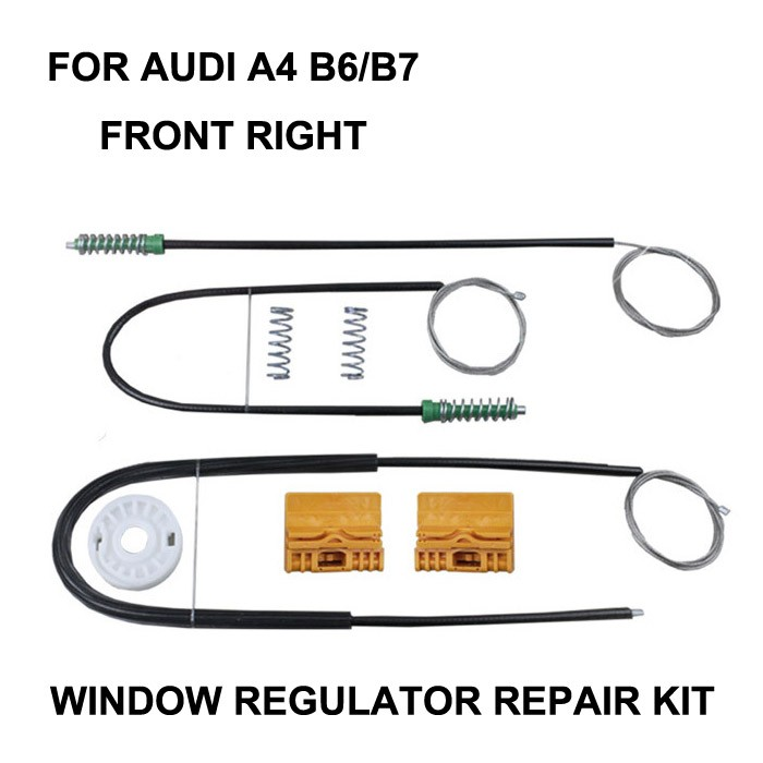 CAR WINDOW FOR AUDI A4 B6 / B7 ELECTRIC WINDOW REGULATOR REPAIR KIT FRONT RIGHT OE#8E0837462,2000-2008