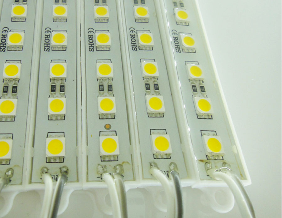 20 шт./лот 5050 SMD 6 светодиодов светодиодный модуль чистый белый Водонепроницаемый реклама лампа для знака букв DC 12 В
