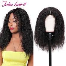 Ali Julia волосы афро кудрявые вьющиеся волосы 360 парик фронта шнурка бразильские Remy человеческие волосы парики для женщин 150% 180% плотность