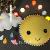 Flanela Super macio pouco de sol rosto sorridente boneca almofada travesseiro bebê paly pequeno foto adereços crianças Decoração do quarto